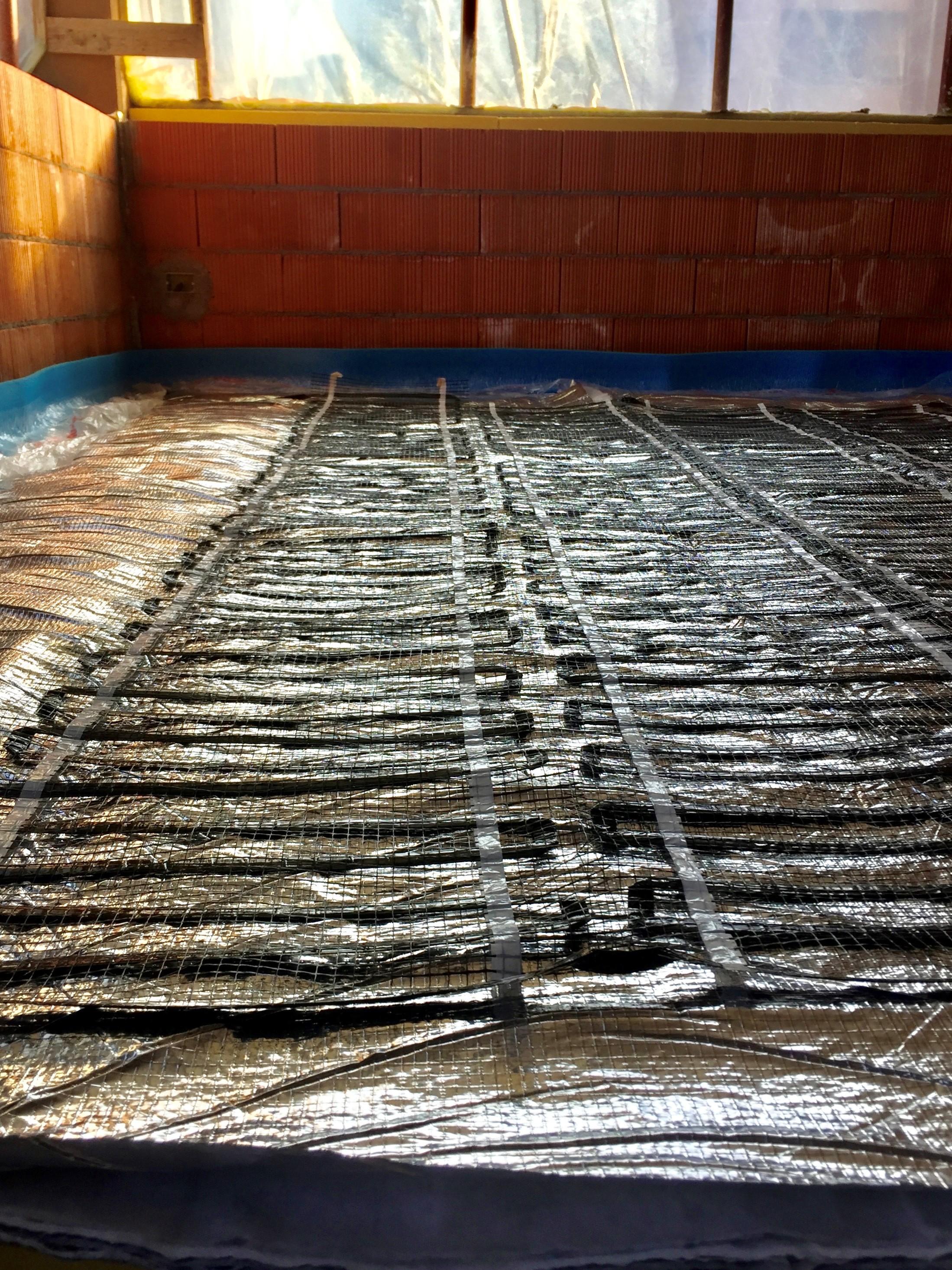 Massetto Per Pavimento Riscaldato riscaldamento elettrico bifilare in fibra di carbonio > a